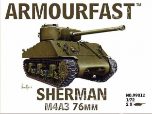 Armourfast maquette militaire 99012 Sherman M4/A3 76mm 1/72