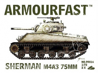 Armourfast maquette militaire 99014 Sherman M4/A3 75mm 1/72