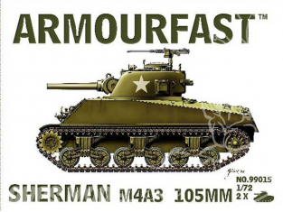 Armourfast maquette militaire 99015 Sherman M4/A3 105mm 1/72