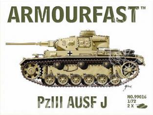 Armourfast maquette militaire 99016 Panzerkampfwagen III Ausf J 1/72