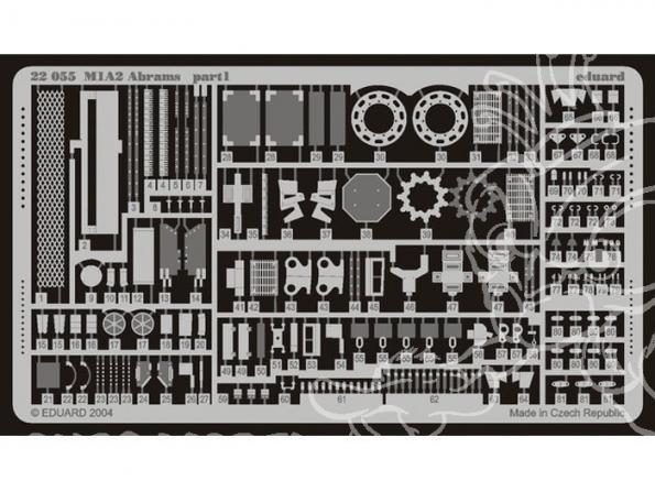 Eduard photodecoupe militaire 22055 M-1A1/A2 1/72