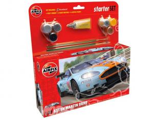 AIRFIX maquette voiture 50110 Aston Martin DBR9 Gulf Starter Set 1/32