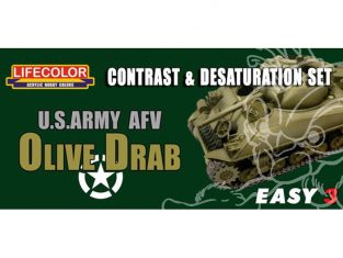 LIFECOLOR peinture MS03 Easy 3 US Army Olive Drab
