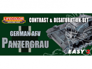 LIFECOLOR peinture MS02 Easy 3 German AFV Panzergrau