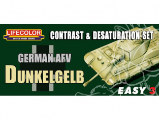 LIFECOLOR peinture MS01 Easy 3 German AFV Dunkelgelb