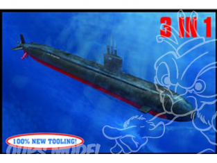 HOBBY BOSS maquette sous marin 83530 USS Los Angeles SSN-688 1/350
