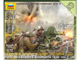 ZVEZDA Maquettes Militaire 6104 Mitrailleuse sovietique avec servants 1/72