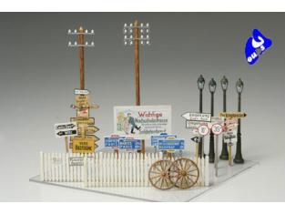tamiya maquette militaire 32509 signalisation 1/48