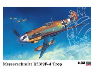 Hasegawa maquette avion 08881 Messerschmitt Bf109F-4 TROPICAL 1/32
