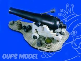 Verlinden maquette militaire 1858 Canon naval 9 Pouces 120mm 1/16