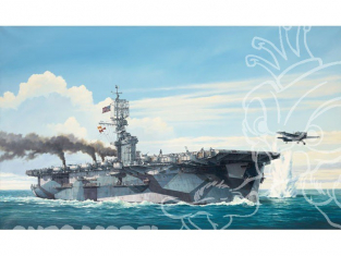Hasegawa maquette bateau 40027 ESCORT CARRIER USS GAMBIER BAY 1/350