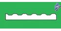 EVERGREEN 4525 plaque ondulée 0.75mm 292x152x1mm