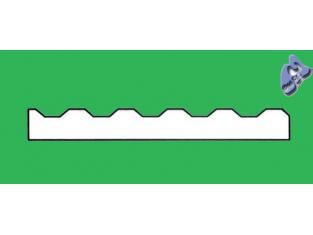 EVERGREEN 4526 plaque ondulée 1mm 292x152x1mm