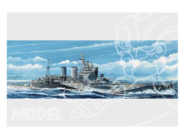 """Trumpeter maquette bateau 05765 CROISEUR BRITANNIQUE HMS """"RENOWN"""" 1945 1/700"""