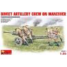 Mini art maquette militaire 35081 ARTILLEURS SOVIETIQUES A LA MANOEUVRE avec canon Anti-Char Zis-3 1/35