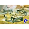 Hasegawa maquette militaire 31112 KUBELWAGEN / B.M.W. SIDE CAR 1