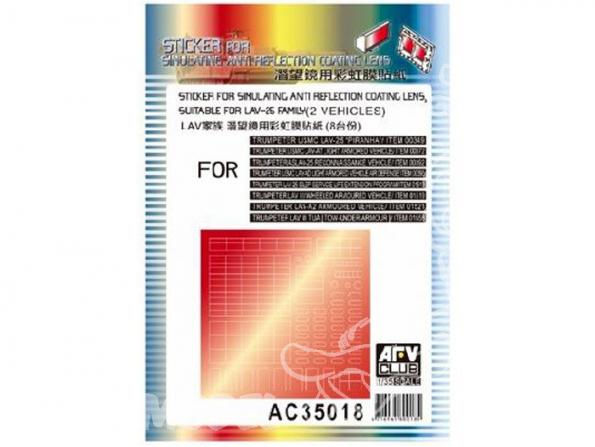 AFV maquette militaire ac35018 STICKERS pour la simulation anti reflets (famille des LAV-25) 1/35