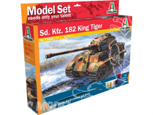 ITALERI maquette militaire 77004 model set Sd. Kfz. 182 King Tiger 1/72