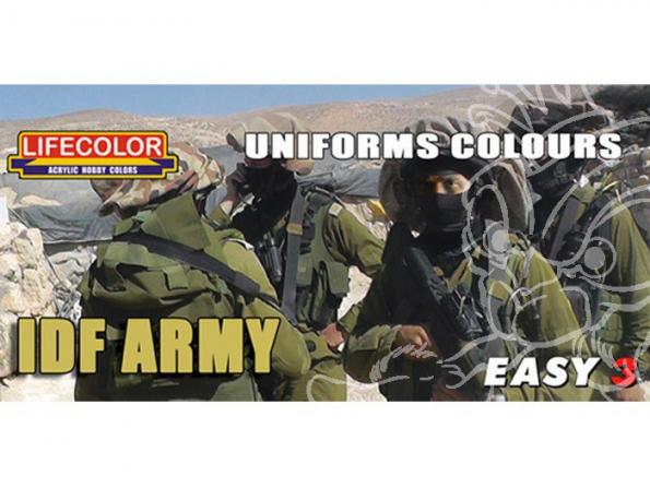 LIFECOLOR peinture MS10 Easy 3 IDF ARMY