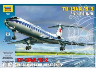 Zvezda maquette avion 7007 Tupolev Tu-134B 1/144