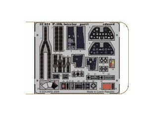 EDUARD photodecoupe 32631 P-40K Interieur S.A. 1/32
