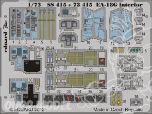 Eduard photodecoupe avion SS415 Interieur EA-18G Hasegawa 1/72