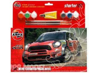 Airfix maquette voiture A55304 MINI Countryman WRC Starter Set 1/32