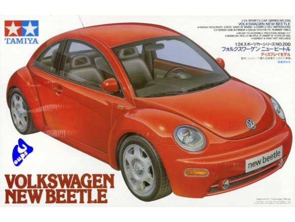tamiya maquette voiture 24200 new beetle 98 1/24