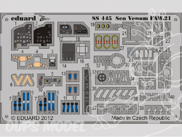 Eduard photodecoupe avion SS445 Sea Venom FAW.21 1/72