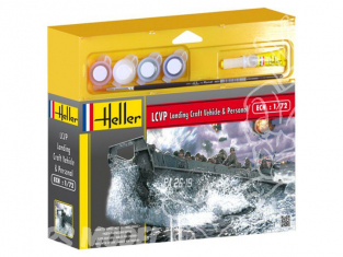 HELLER maquette militaire 49995 LCVP Landing Craft Vehicle and Personal kit complet 1/72