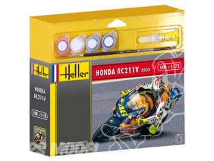 HELLER maquette moto 50923 Honda RC211V 2002 Valentino Rossi kit complet 1/24