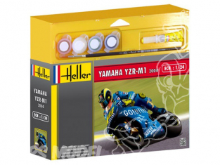 HELLER maquette moto 50927 Yamaha YZR M1 2004 Valentino Rossi kit complet 1/24