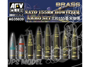 Afv Club maquette militaire ag35039 SET DE MUNITIONS DE 155MM OTAN 1/35