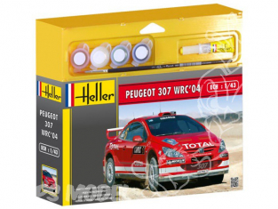HELLER maquette voiture 50115 Peugeot 307 WRC kit complet 1/43