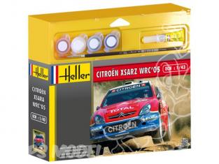 HELLER maquette voiture 50114 Citroen Xsara WRC 2005 Loeb kit complet 1/43