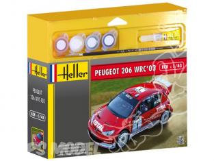 HELLER maquette voiture 50113 Peugeot 206 WRC 2003 kit complet 1/43
