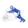 Tamiya maquette moto 14124 Pilote moto au depart 1/12