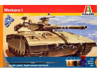ITALERI maquette Coffret 77005 Merkava I 1/72