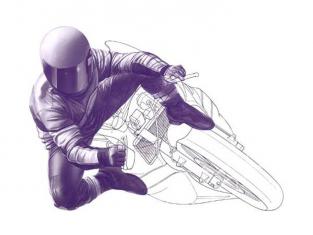 Tamiya maquette moto 14122 Pilote moto en virage 1/12