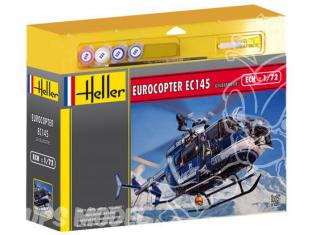 HELLER maquette helicoptere 50378 Eurocopter EC145 Gendarmerie kit complet 1/72