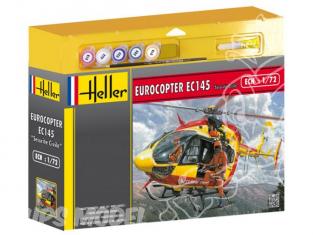 HELLER maquette helicoptere 50375 Eurocopter EC145 Securite Civile kit complet 1/72