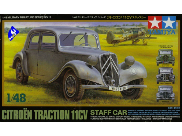 tamiya maquette militaire 32517 citroen traction 11cv 1/48