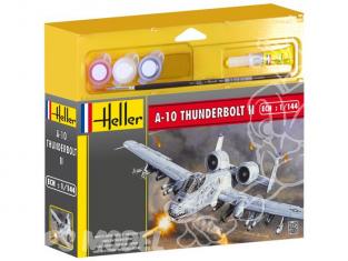 HELLER maquette avion 49073 A-10 Thunderbolt II kit complet 1/144