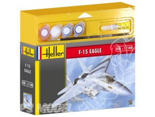 HELLER maquette avion 49902 F-15 Eagle kit complet 1/144