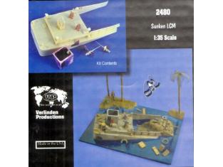 Verlinden maquette bateau 2480 barge de debarquement coulée 1/35