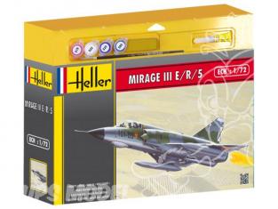 HELLER maquette avion 50323 Dassault Mirage III E/R/S kit complet 1/72