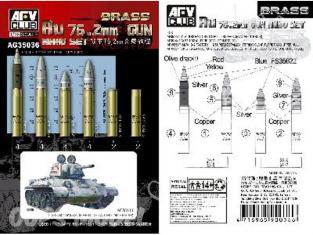 Afv Club maquette militaire ag35036 MUNITIONS DE 76.2mm pour chars Soviétiques 1/35