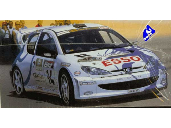 tamiya maquette voiture 24221 peugeot 206 wrc 1/24