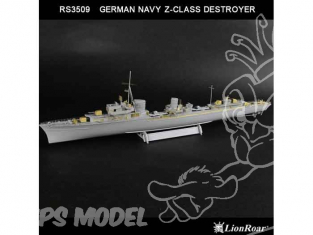LION ROAR kit amelioration rs3509 pour DESTROYER CLASSE Z ALLEMAND - 2e Guerre Mondiale1/350