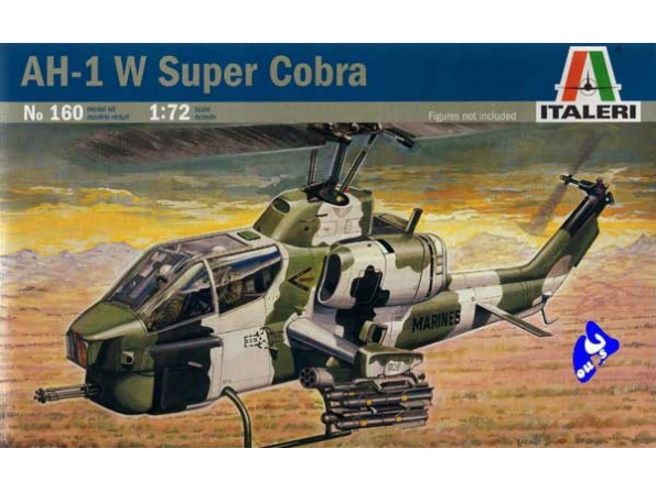 italeri maquette avion 0160 AH-1W Super Cobra 1/72